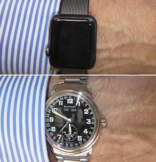 Comparing watches